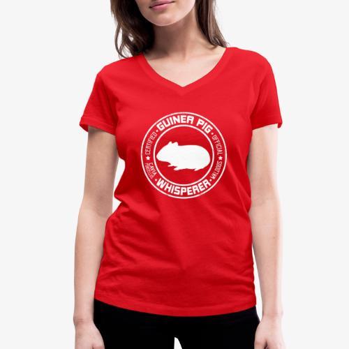 Marsewhisperer White - Stanley & Stellan naisten v-aukkoinen luomu-T-paita