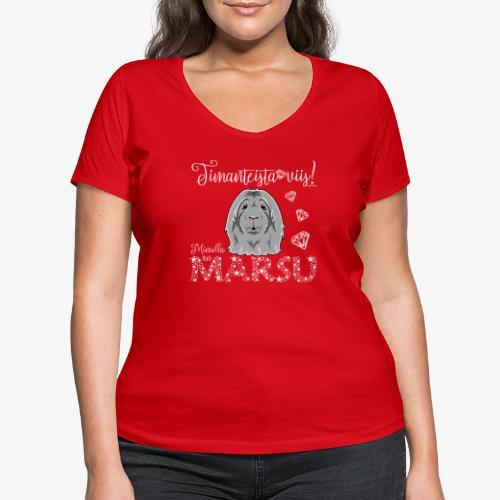 Marsu Dimangi IX - Stanley & Stellan naisten v-aukkoinen luomu-T-paita