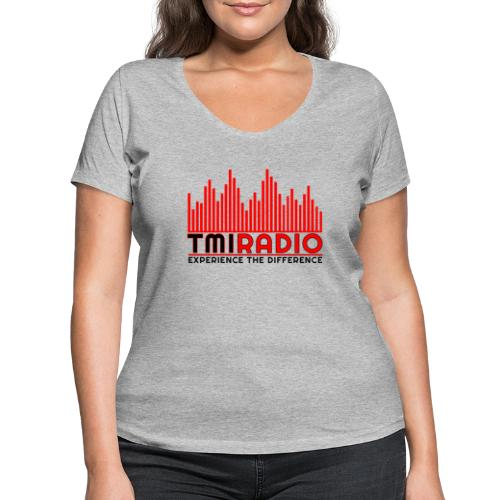 NEW TMI LOGO RED AND BLACK 2000 - Women's Organic V-Neck T-Shirt by Stanley & Stella