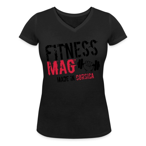 Fitness Mag made in corsica 100% Polyester - T-shirt bio col V Stanley & Stella Femme