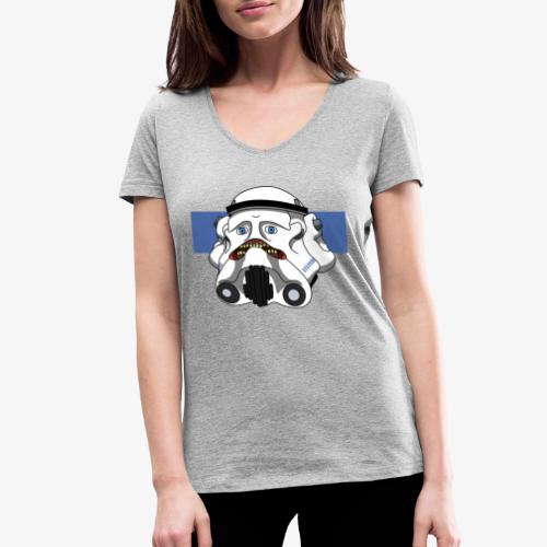 The Look of Concern - Women's Organic V-Neck T-Shirt by Stanley & Stella