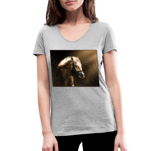 The Restless Stallion - Vrouwen bio T-shirt met V-hals van Stanley & Stella