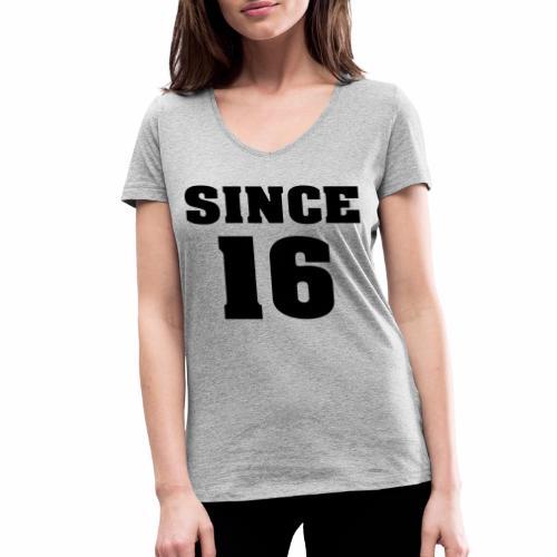 togehter since 16 - Frauen Bio-T-Shirt mit V-Ausschnitt von Stanley & Stella