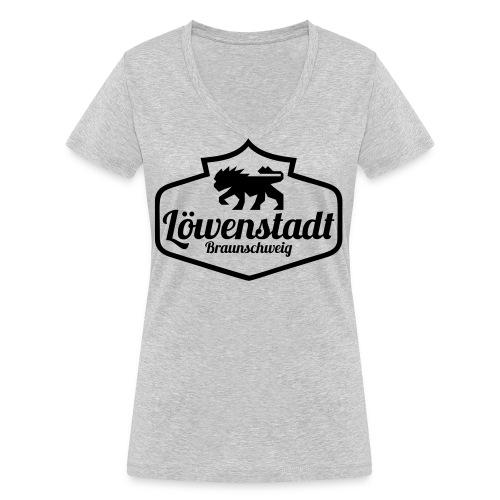 Löwenstadt Design 1 schwarz - Frauen Bio-T-Shirt mit V-Ausschnitt von Stanley & Stella