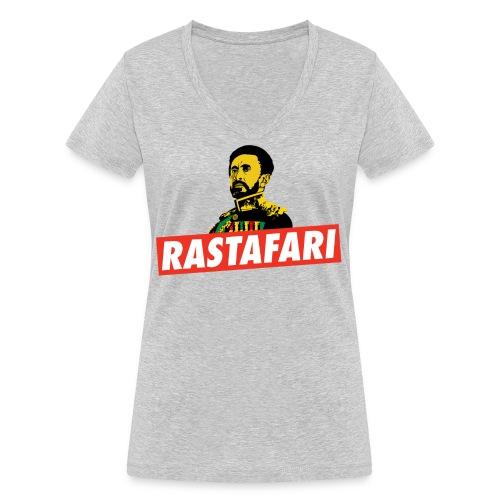 Rastafari - Haile Selassie - HIM - Jah Rastafara - Frauen Bio-T-Shirt mit V-Ausschnitt von Stanley & Stella