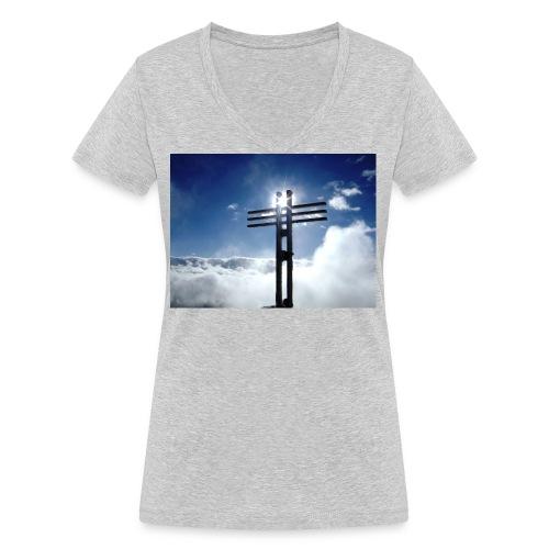 Bergzeit 003 - Frauen Bio-T-Shirt mit V-Ausschnitt von Stanley & Stella