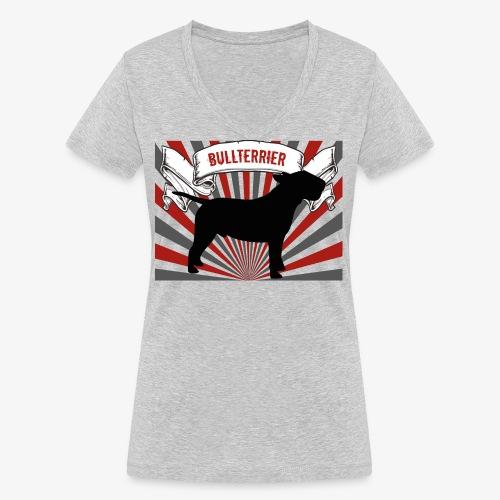 Bullterrier - Frauen Bio-T-Shirt mit V-Ausschnitt von Stanley & Stella