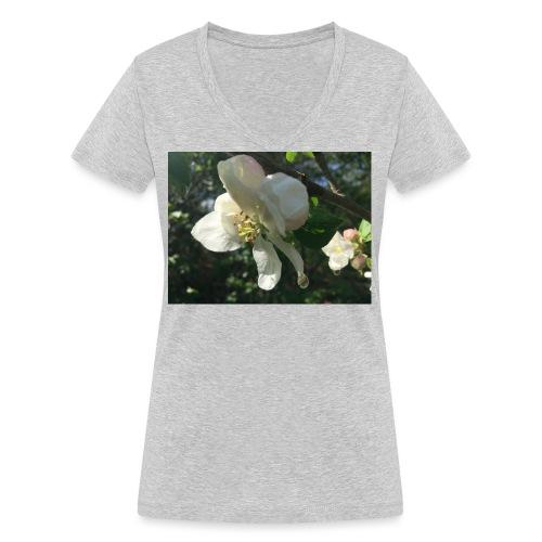 The Flower Shirt - Æble - Økologisk Stanley & Stella T-shirt med V-udskæring til damer