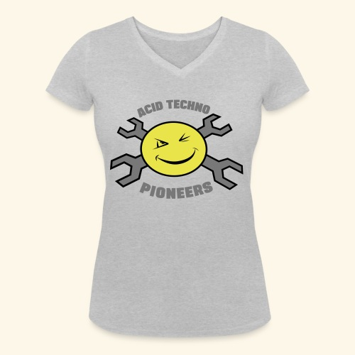 ACID TECHNO PIONEERS - SILVER EDITION - Women's Organic V-Neck T-Shirt by Stanley & Stella