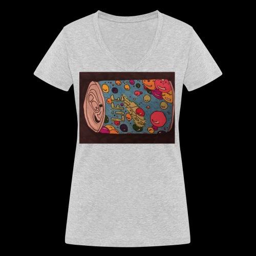 7AABC614 53CA 4156 B765 D9FBF5B8E496 - Økologisk Stanley & Stella T-shirt med V-udskæring til damer