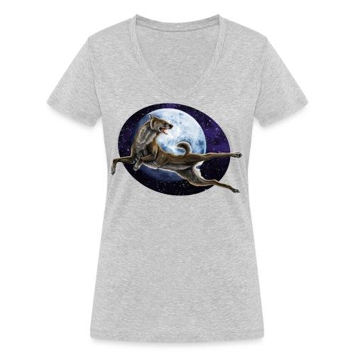 Galaxy Wolf - Frauen Bio-T-Shirt mit V-Ausschnitt von Stanley & Stella