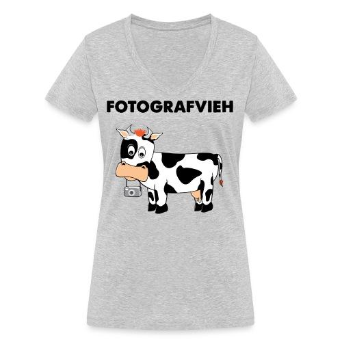 Fotografvieh - Frauen Bio-T-Shirt mit V-Ausschnitt von Stanley & Stella