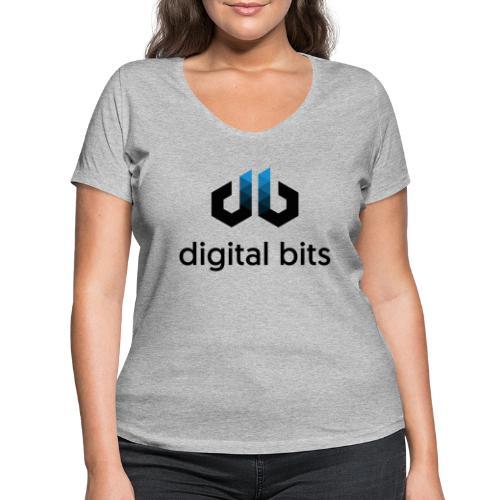 digitalbits Logo mit Schriftzug - Frauen Bio-T-Shirt mit V-Ausschnitt von Stanley & Stella