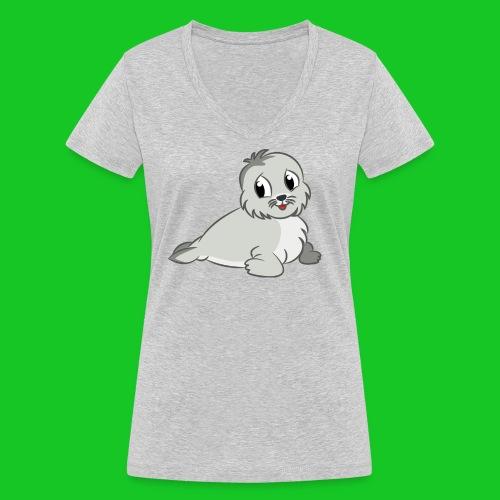 Zeehondje - Vrouwen bio T-shirt met V-hals van Stanley & Stella
