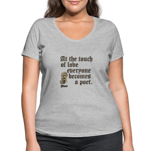 At the touch of love - Women's Organic V-Neck T-Shirt by Stanley & Stella