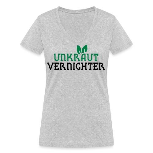 Unkrautvernichter - Frauen Bio-T-Shirt mit V-Ausschnitt von Stanley & Stella