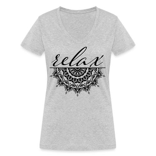 Relax inspire meditation zen - T-shirt bio col V Stanley & Stella Femme