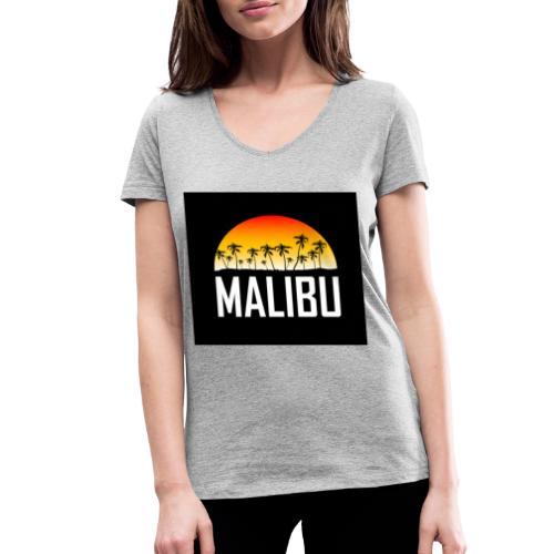 Malibu Nights - Women's Organic V-Neck T-Shirt by Stanley & Stella