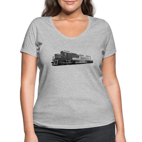 Lokomotive Santa Fe EMD F7 USA - Frauen Bio-T-Shirt mit V-Ausschnitt von Stanley & Stella