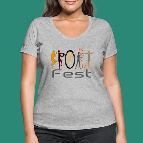 sportfest - Frauen Bio-T-Shirt mit V-Ausschnitt von Stanley & Stella