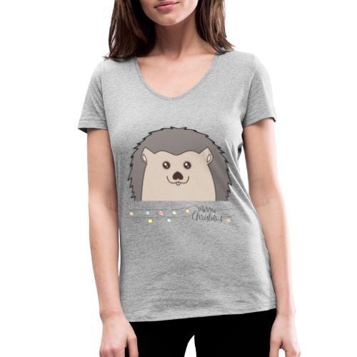 Hed wünscht Merry Christmas - Frauen Bio-T-Shirt mit V-Ausschnitt von Stanley & Stella