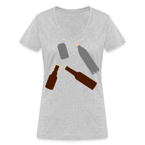 Flaschen und Dose - Frauen Bio-T-Shirt mit V-Ausschnitt von Stanley & Stella