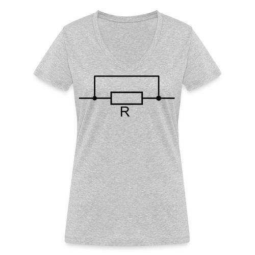 Widerstand ist zwecklos - Frauen Bio-T-Shirt mit V-Ausschnitt von Stanley & Stella