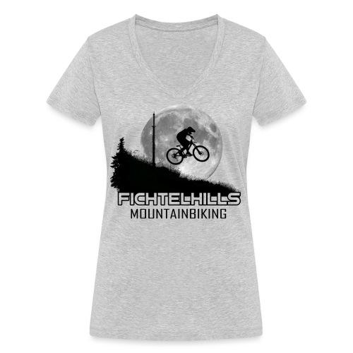 fichtelhills mountainbiking Night ride Ochsenkopf - Frauen Bio-T-Shirt mit V-Ausschnitt von Stanley & Stella