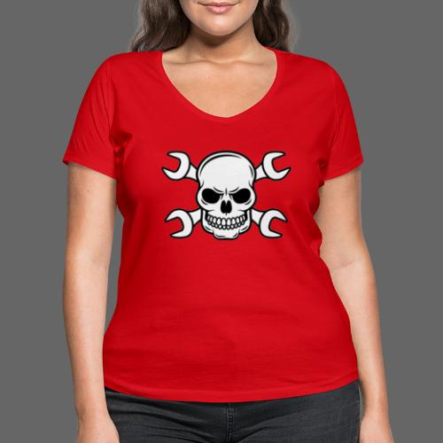 MEKKER SKULL - Økologisk Stanley & Stella T-shirt med V-udskæring til damer