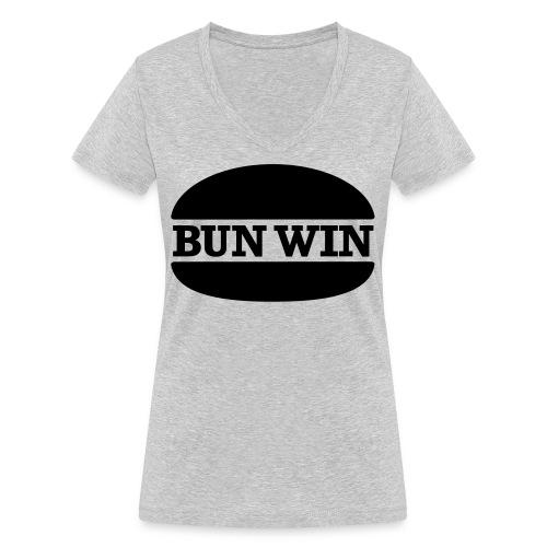 bunwinblack - Women's Organic V-Neck T-Shirt by Stanley & Stella