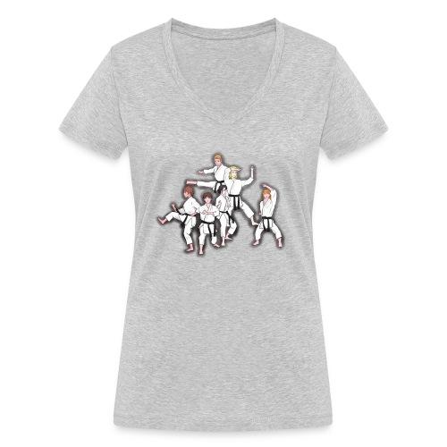 Karate - Women's Organic V-Neck T-Shirt by Stanley & Stella