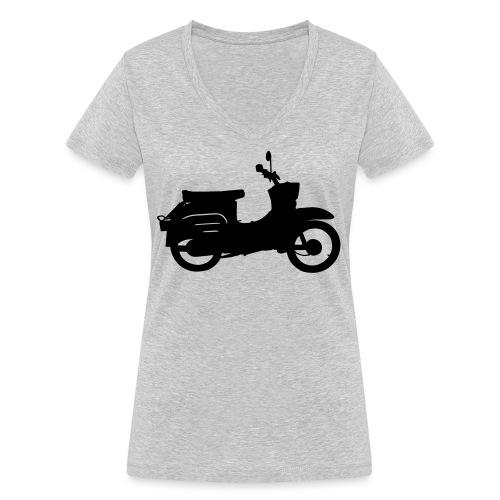 Schwalbe Silhouette - Frauen Bio-T-Shirt mit V-Ausschnitt von Stanley & Stella