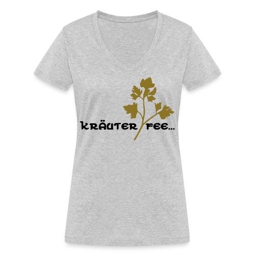Kräuterfee - Frauen Bio-T-Shirt mit V-Ausschnitt von Stanley & Stella