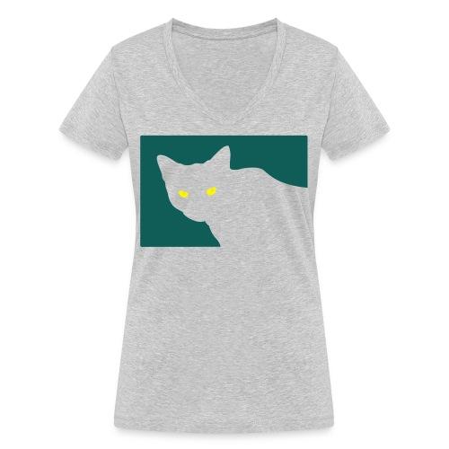 Spy Cat - Women's Organic V-Neck T-Shirt by Stanley & Stella