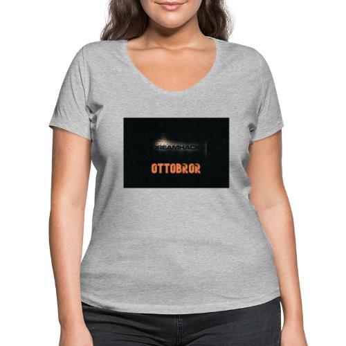 svart granit polerad - Ekologisk T-shirt med V-ringning dam från Stanley & Stella