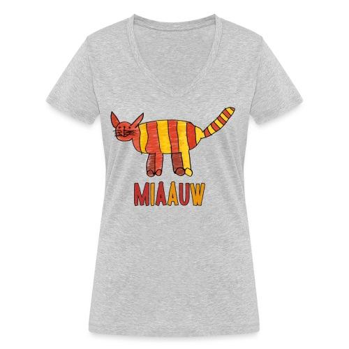 miaauw poesje - Vrouwen bio T-shirt met V-hals van Stanley & Stella