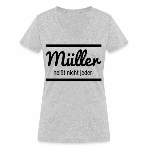 Müller Namensschild - Frauen Bio-T-Shirt mit V-Ausschnitt von Stanley & Stella