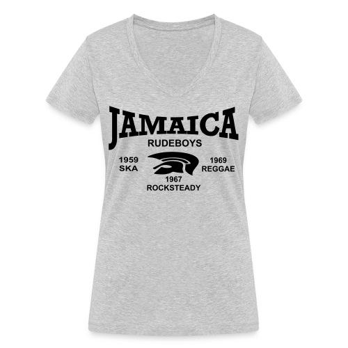 rudeboys jamaica trojan - Frauen Bio-T-Shirt mit V-Ausschnitt von Stanley & Stella