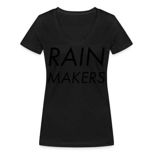 rainmakertext - Stanley & Stellan naisten v-aukkoinen luomu-T-paita