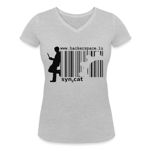 syn2cat hackerspace - Women's Organic V-Neck T-Shirt by Stanley & Stella