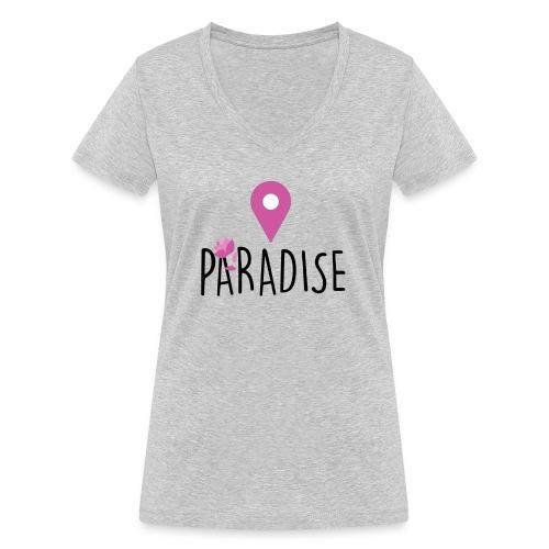 paradise - T-shirt ecologica da donna con scollo a V di Stanley & Stella