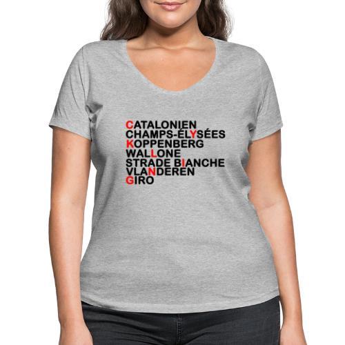 CYKLING - Økologisk Stanley & Stella T-shirt med V-udskæring til damer