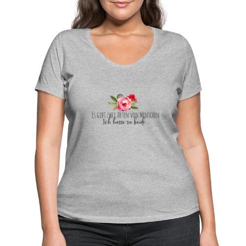 Menschliebe - Frauen Bio-T-Shirt mit V-Ausschnitt von Stanley & Stella