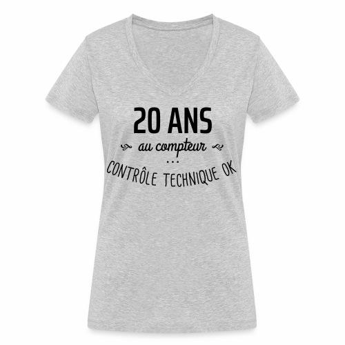 20 ans au compteur - T-shirt bio col V Stanley & Stella Femme