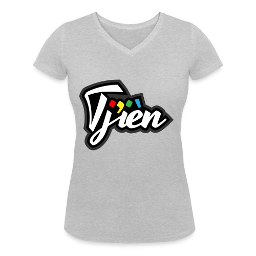 Tjien Logo Design - Vrouwen bio T-shirt met V-hals van Stanley & Stella