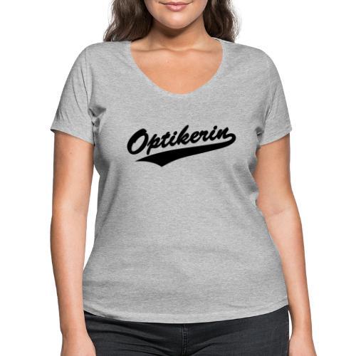 Optikerin Baseball Style - Frauen Bio-T-Shirt mit V-Ausschnitt von Stanley & Stella