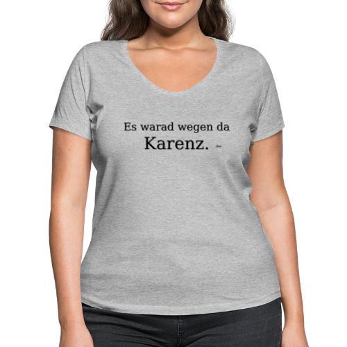 Karenz - Frauen Bio-T-Shirt mit V-Ausschnitt von Stanley & Stella