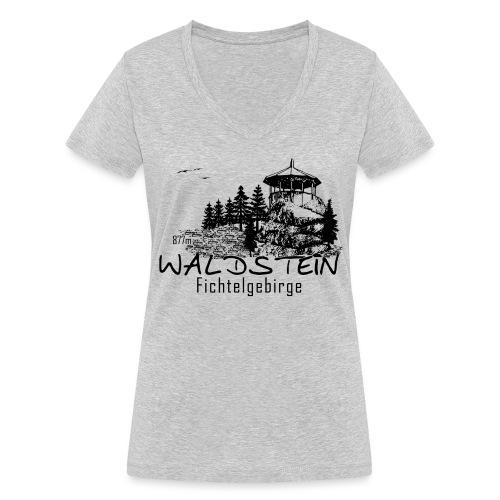 Waldstein im Fichtelgebirge - Frauen Bio-T-Shirt mit V-Ausschnitt von Stanley & Stella