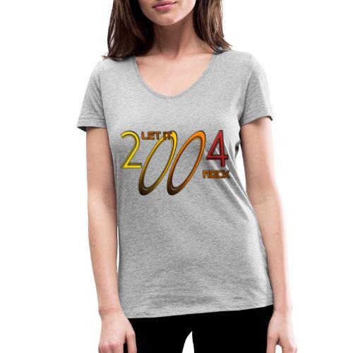 Let it Rock 2004 - Frauen Bio-T-Shirt mit V-Ausschnitt von Stanley & Stella