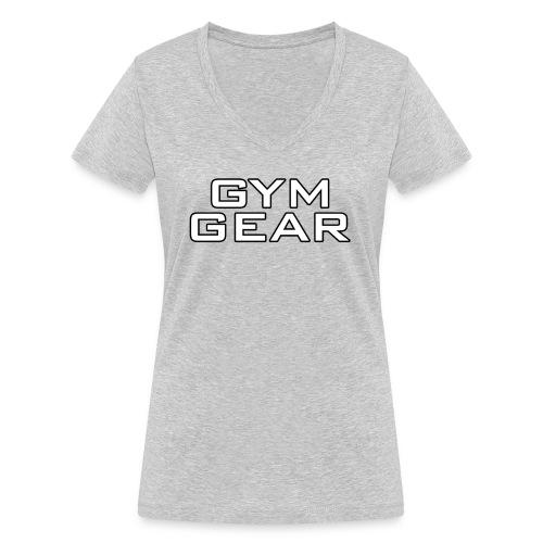 Gym GeaR - Women's Organic V-Neck T-Shirt by Stanley & Stella